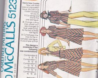 McCalls 5123 Vintage Pattern Womens Shirt/Jacket, Tunic Top, Pants and Skirt Size 12, 14, 16 UNCUT