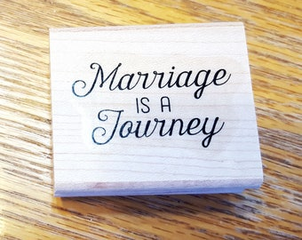 Marriage is a Journey Rubber Stamp retired from Stampin Up
