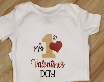 My First Valentines day shirt for baby