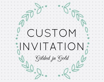 Custom Event Invitation