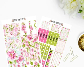 Lotus Planner Sticker Kit, for use with Erin Condren, ECLP, Life Planner, Planner Stickers, Recollections Planner