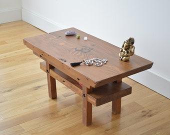 Reclaimed Wood Meditation Altar - Solid Color