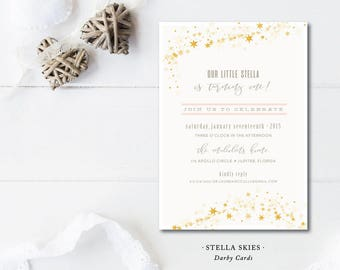 Stella Skies Party Invitations