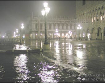 Poster, Many Sizes Available; Venice Italy At High Tide