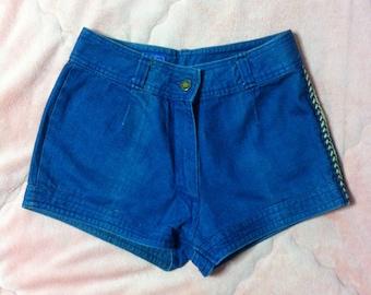 Vintage Denim Shorts, Vintage Denim Short Shorts, Blue Denim Shorts, Vintage Jean Shorts