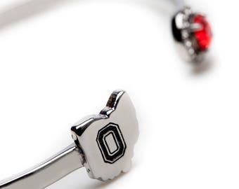 Ohio State Bangle Bracelet | OSU Bangle Bracelet | Ohio State jewelry | Ohio State Buckeyes Jewelry | OSU Gifts