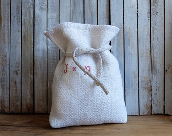 antique Grain Sack Gift Bag Natural Color