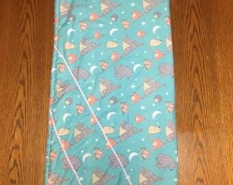 Girl Minky Baby/Toddler Blanket