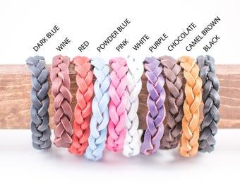 Leather Oil Diffuser bracelet, leather bracelet, charm bracelet braided bracelet, wife gift, mothers day gift, birthday gift