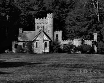 Squire's Castle Fine Art Photograph - Black and White