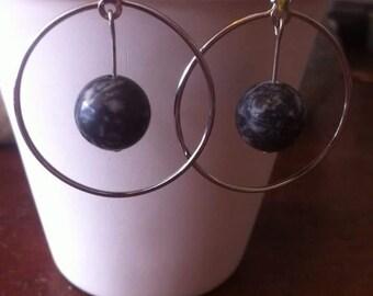 Picasso Marble hoop earrings