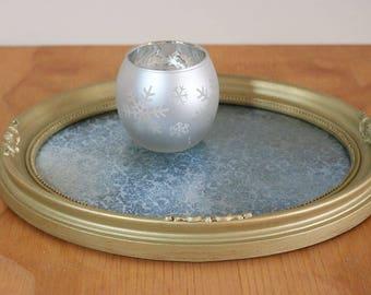 VICTORIAN VANITY TRAY, ooak, Oval Vanity Tray, Housewarming Gift, Dresser Tray,  Entryway Decor, Dresser Perfume Tray,  Ring Dish, Jewelry