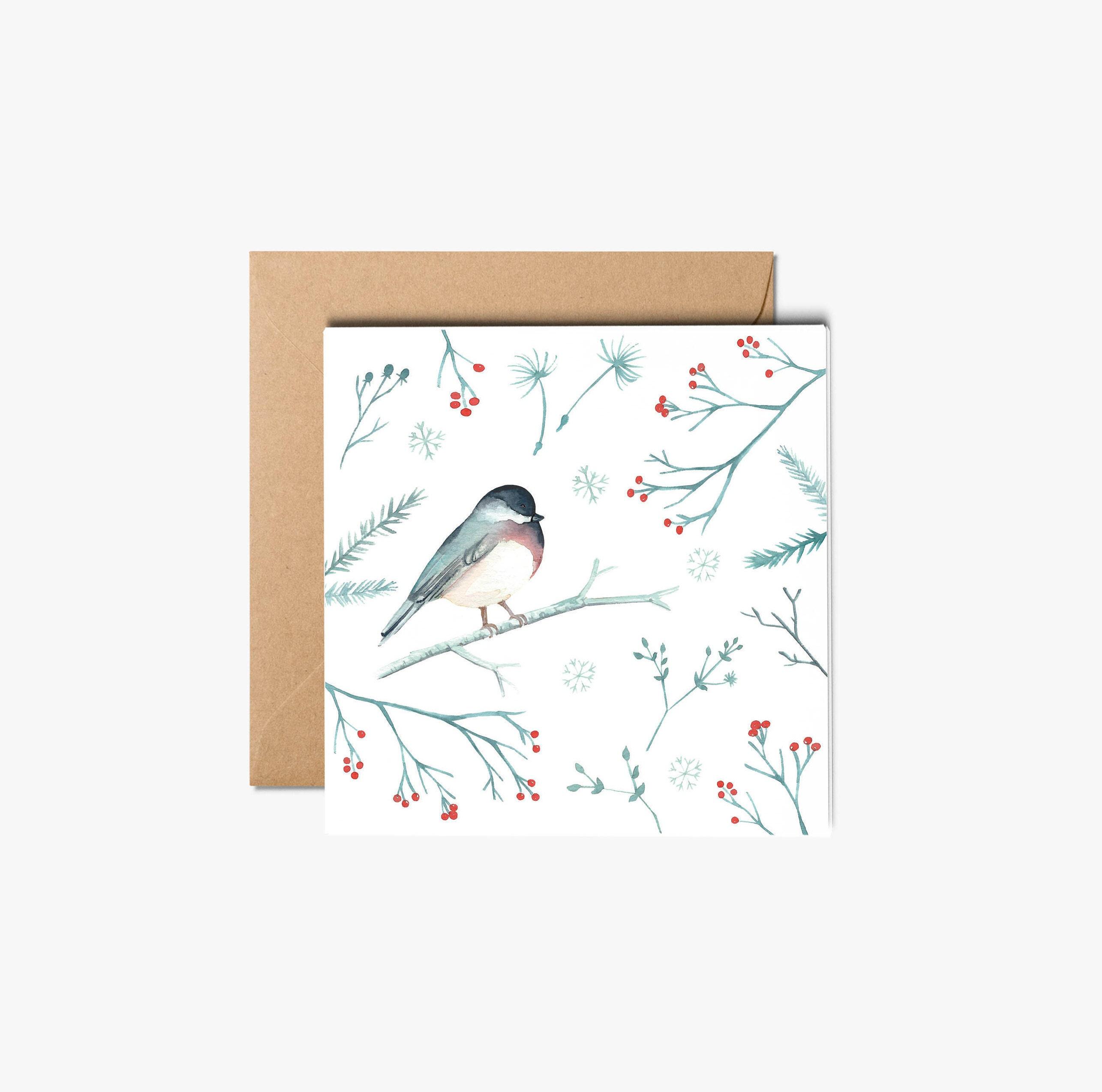 Christmas cards robin greeting card watercolor cards with envelope christmas cards robin greeting card watercolor cards with envelope holiday greeting card holiday card xmas card boxed christmas cards kristyandbryce Choice Image