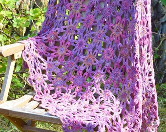 Marsh Violet Crochet Blanket - PDF CROCHET PATTERN