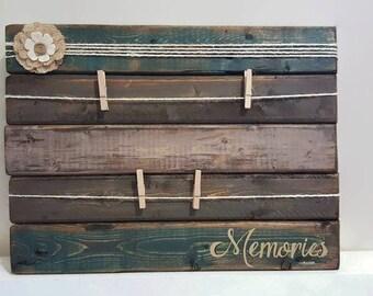 Memories Photo Display - Picture Display - Wood Display