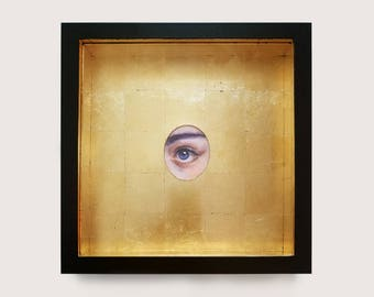 Lover's Eye - Framed Oil and Gold Leaf #9