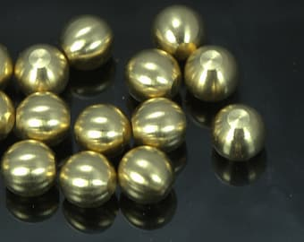 25 pcs 8 mm raw solid brass sphere without hole 1464