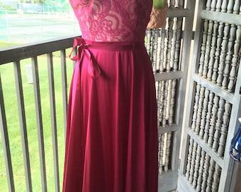 Vintage burgundy nightgown