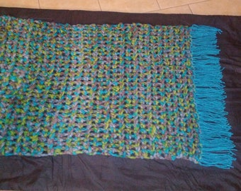 Fat Yarn Lap Blanket