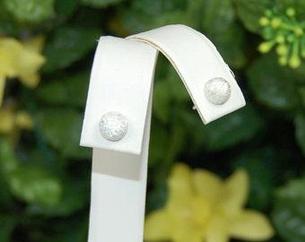 Sterling Silver Earrings, Half Dome Sparkle, Sterling Posts, Silver Hemisphere, Petite Silver Stud, Silver Stud Earrings, Round Silver Studs