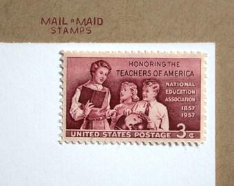 School Teachers || Set of 10 unused vintage postage stamps