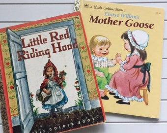 Little Golden Book Little Red Riding Hood 1948 Mother Goose 1961