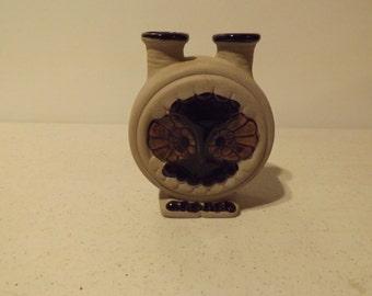 Unique Owl Pottery Double Vase Vessel