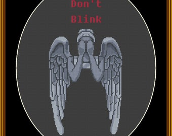 Don't Blink Doctor Who cross stitch pattern pdf download