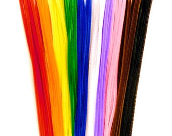 Jumbo Pipe Cleaners 300mm x 6mm Assorted Colours 50pieces