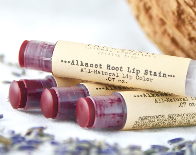 Featured listing image: Natural Alkanet Root Lip Stain // Sheer Lip Enhancer