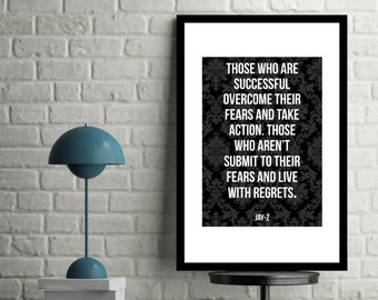 Jay z poster etsy printable jay z quote those who are successful malvernweather Choice Image