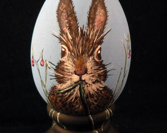 Easter Egg, hand painted Bunny