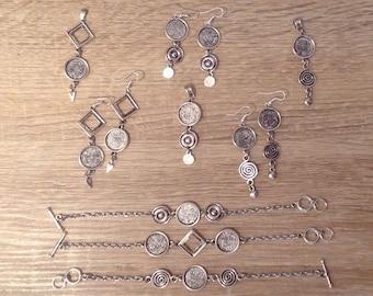 3 jewelry sets necklace earrings bracelet