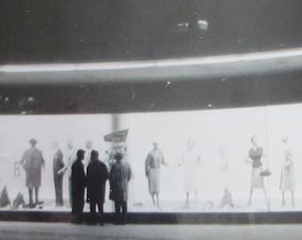 Mid Century 1958 Department Store Window Fashion Snapshot Photograph - Free Shipping