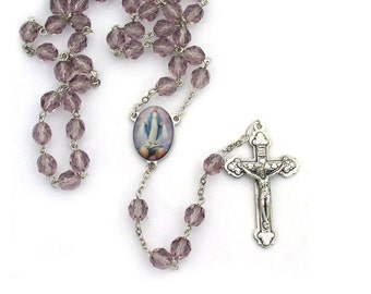 Virgin Mary Miraculous Catholic Rosary Beads Necklace