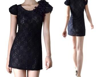Short dress tunic lace (M95)