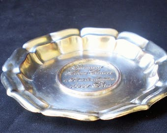 Vintage Silver Plate Ashtray Dresser Tray from Lucas Carton Restaurant Paris-1940's