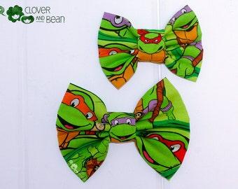 Teenage Mutant Ninja Turtles Bow - TMNT Hairbow - Teenage Mutant Ninja Turtles Bowtie - TMNT Bowtie