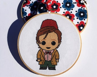 Eleventh Doctor (With Fez) Doctor Who Handmade Cross Stitch