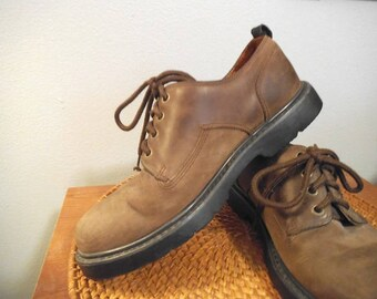 Vintage Rustic Brown Leather Timberland Oxfords ~ Men's 8 1/2 ~  Waterproof  Oxfords