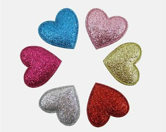"""1"""" Heart Appliques Valentine's Day"""