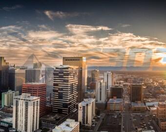 Downtown Denver at Sunset