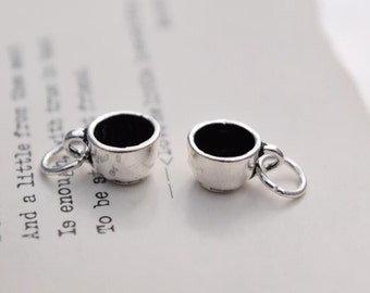 2 pcs sterling silver cup charm pendant  AY1