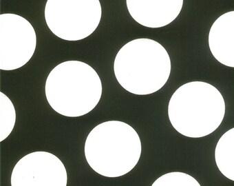 Black and White Large Polka Dot Patterned Fabric - Half Moon Modern by Moda 1/2 yard