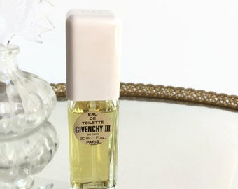 Vintage Givenchy III Eau De Toilette Spray 1 Fl oz, Vintage Perfume EDT Spray, Women's Fragrance, French Perfume, Gift for Her