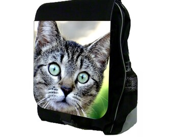 Scaredy Cat Large Black School Backpack