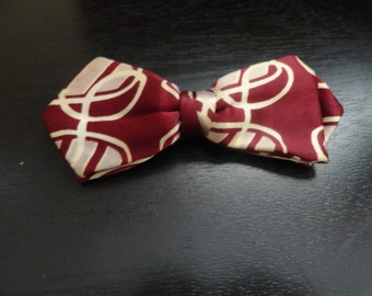 Vintage Ever Grip Burgundy & Cream  Bow Tie