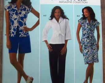 Misses Jacket, Skirt and Pants or Shorts Sizes 8 10 12 14 16 Threads Simplicity Pattern 2370 UNCUT