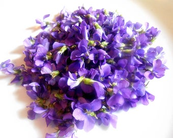 Fresh WILD VIOLETS, Edible Sweet Violets, Cupcake Toppers, Wedding Cakes, This week only