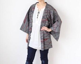 Japanese traditional kimono, haori, kimono jacket, authentic kimono, haori jacket, kimono top, Japanese clothing, kimono sleeve /2142